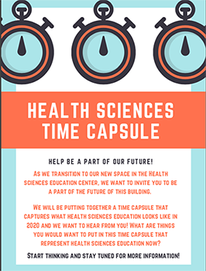 Health Sciences Time Capsule Flyer
